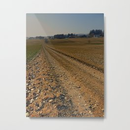 Enjoying countryside life on a hiking trail   landscape photography Metal Print