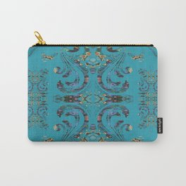 Deep Turquoise Boujee Boho Medallion Carry-All Pouch