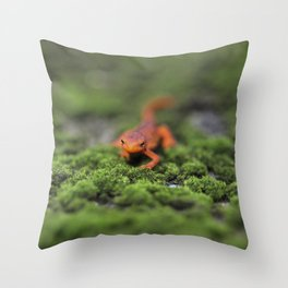 Coming For You - Orange Salamander Throw Pillow
