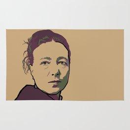 Simone de Beauvoir Rug