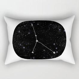 Cancer zodiac constellation star chart night sky star signs Rectangular Pillow