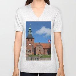 Vor Frue Kirke, Svendborg, Denmark Unisex V-Neck