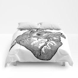 Vintage Anatomy Heart Comforters