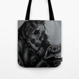 Skeleton Holding Diamond Tote Bag