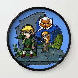 Legend of Zelda Wind Waker Meow T-Shirt Wall Clock