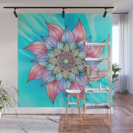 Colorful sky flower Wall Mural