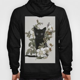 Cat With Flowers Hoody