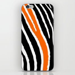 Orange Zebra iPhone Skin