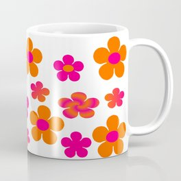 Hot pink and orange floral Coffee Mug