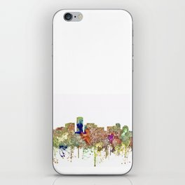 Long Beach, California Skyline - Faded Glory iPhone Skin