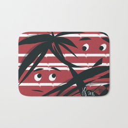 Eyes in the Red Blinds Bath Mat