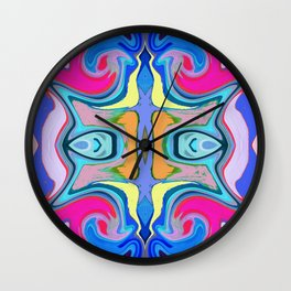 96 - Colour abstract pattern Wall Clock