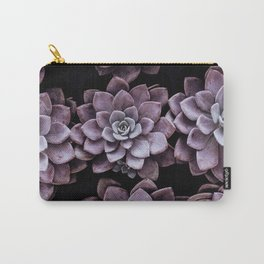 Violet Succulents Carry-All Pouch