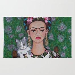 Frida cat lover Rug