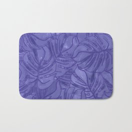 Monstera leaves - Ultra Violet and Lilac Bath Mat