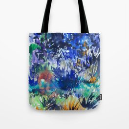 Watercolor wetland landscape Tote Bag