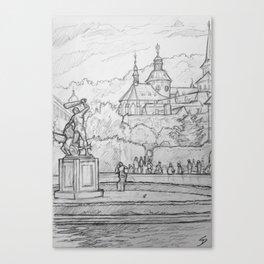 Quick Sketch - Prague, 14. Canvas Print