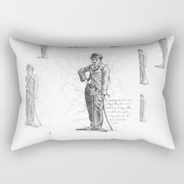 Chaplin in Lines Rectangular Pillow