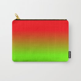 Neon Red and Neon Green Ombré  Shade Color Fade Carry-All Pouch