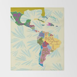 Map. Mapa. Carte. Throw Blanket