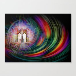 Our world is a magic - Time Tunnel 101 Canvas Print