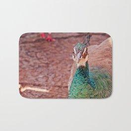 Perky Peacock Bath Mat