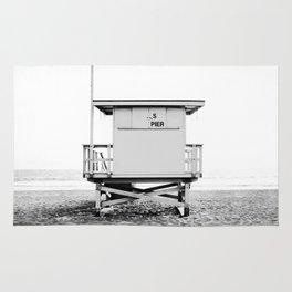 Beach Photography black and white print Rug
