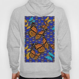MODERN BUTTERFLY BLUE ABSTRACT WORLD Hoody