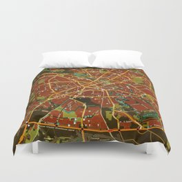 Minsk colorful map Duvet Cover