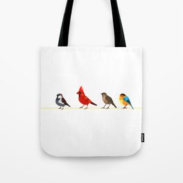 Little birds. Spring. Tote Bag