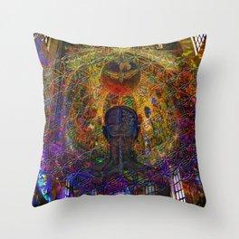 Solar Crown Chakra Throw Pillow