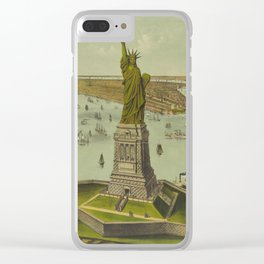 Currier & Ives. - Print c.1885 - Statue of Liberty 2 Clear iPhone Case