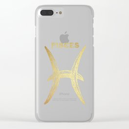 Pisces Zodiac Sign Clear iPhone Case