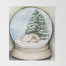 Snow Globe Throw Blanket