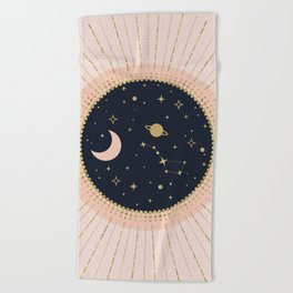 Love in Space Beach Towel