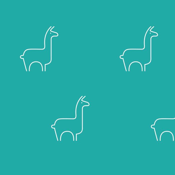 Baesic Llama Pattern (Teal) Leggings