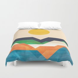 Tale from the shore Duvet Cover