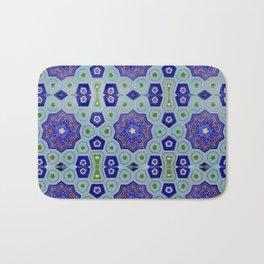 Samarkand Kaleidoscope in Blue Bath Mat