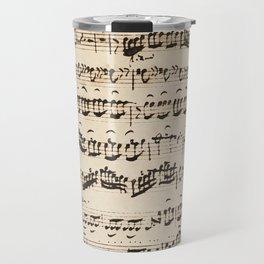 Johann Sebastian Bach (1685 – 1750) original music sheet Travel Mug