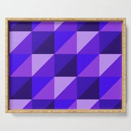 Purple Isometric 45 Serving Tray