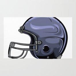 Gridiron Football Helmet Rug