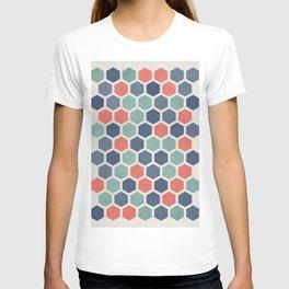 Honeycomb Geometrics, Vintage, Throw-Pillows, Art-Prints T-shirt