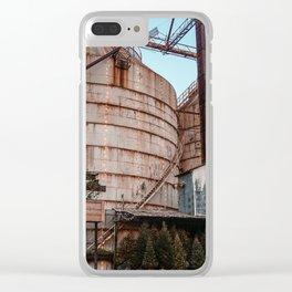 Magnolia-Christmas Silos Clear iPhone Case