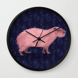 Capy Rosado Wall Clock
