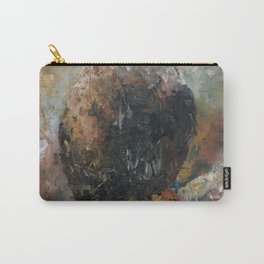Bald Eagle on Birch Carry-All Pouch