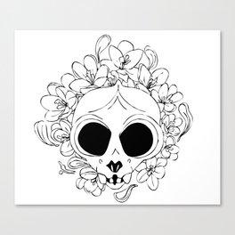 Crocus skull Canvas Print