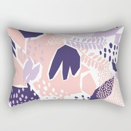 Pastel Cut-Out Abstract Collage Rectangular Pillow