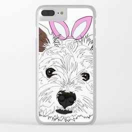 Happy Easter - Westie Bunny Clear iPhone Case