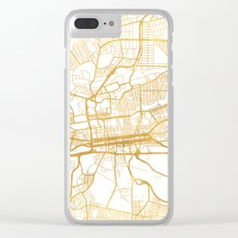 JOHANNESBURG SOUTH AFRICA CITY STREET MAP ART Clear iPhone Case