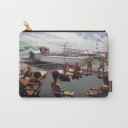 Kings Inn Hotel Sundeck on the Wildwood Boardwalk and Amusement Pier. 1960's retro photograph. Carry-All Pouch